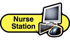 Nurse Station Sign inYellow