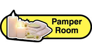 Pamper Room Sign inYellow