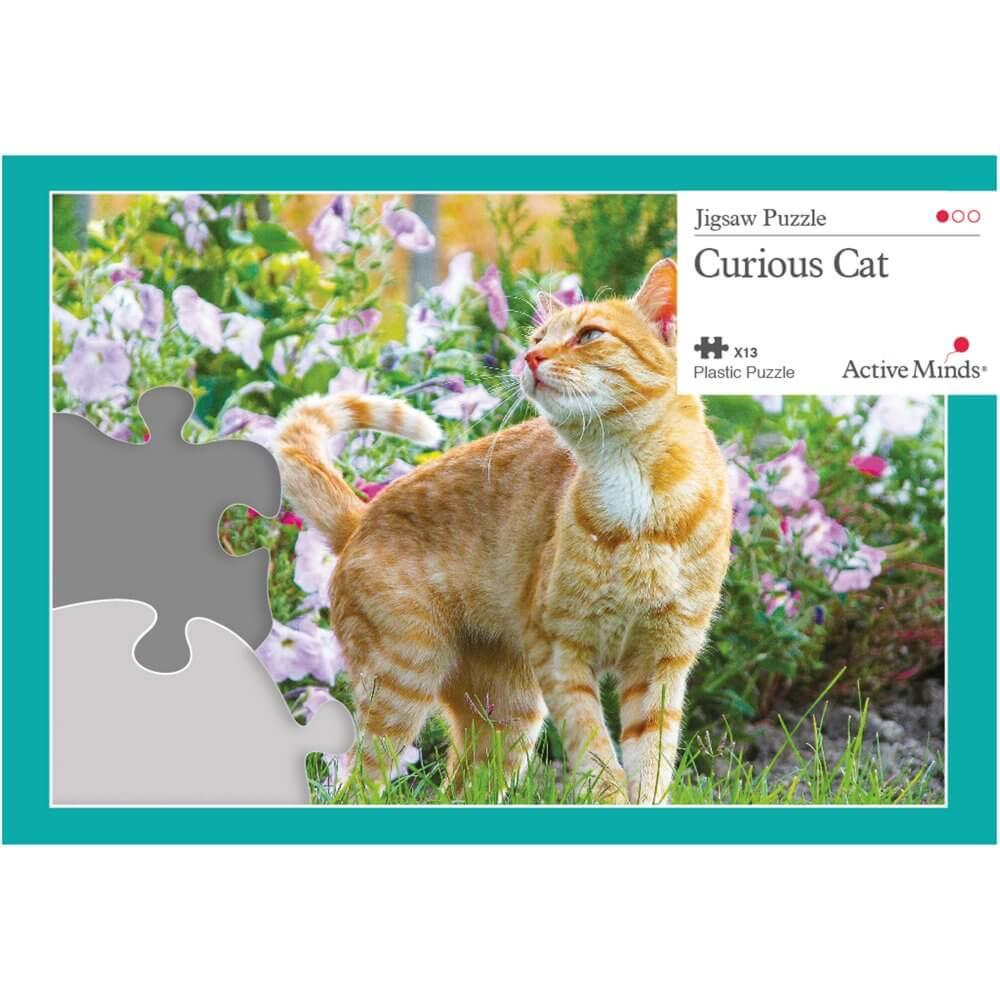 13 Piece Jigsaw Puzzle - Curious Cat