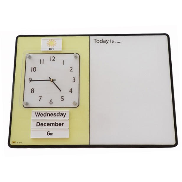 Simple Dry-Wipe Orientation Board with Day / Night Inserts