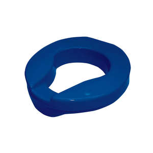 Armley Raised Toilet Seat - Blue 50mm