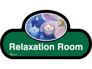 Relaxation Room Sign inGreen
