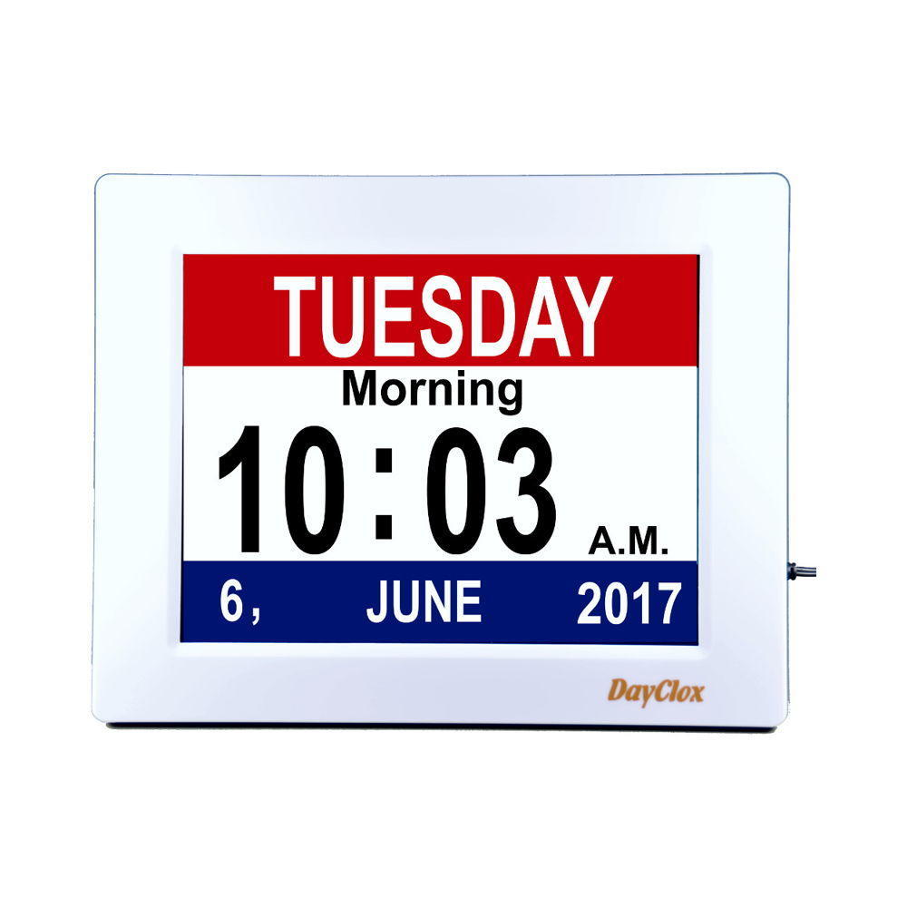 DayClox 8 Digital Calendar Clock with Day Periods - Type EC