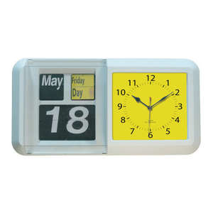 Large Day / Night Flip Calendar Clock