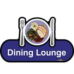 Dining Lounge Sign inBlue