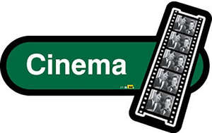 Cinema Sign in Green