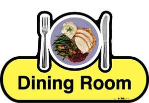 Dining Room Sign inYellow