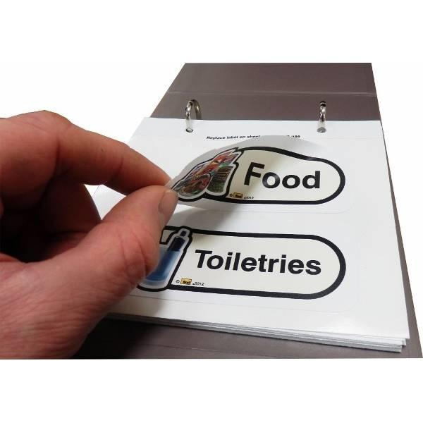 Reusable Sticky Labels for Drawers, Cupboards, & Doors