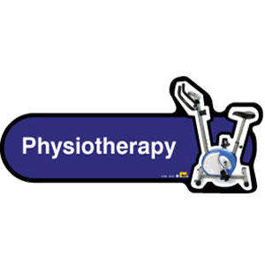 Physiotherapy Sign inBlue