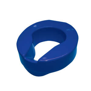 Armley Raised Toilet Seat - Blue 100mm
