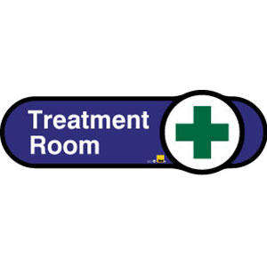 Treatment Room Sign inBlue
