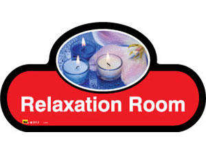 Relaxation Room Sign inRed