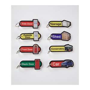Key Fobs with Labels and Key Ring