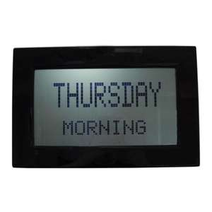 Large Radio Controlled Digital Day Clock