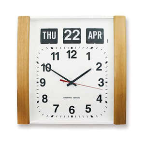 Wood Panel Automatic Calendar Clock