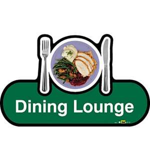 Dining Lounge Sign inGreen