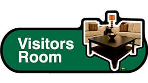 Visitors Room Sign inGreen