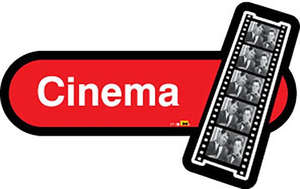 Cinema Sign in Red