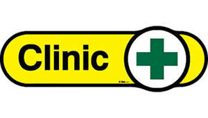 Clinic Sign in Yellow