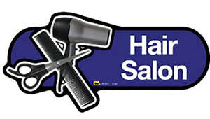 Hair Salon Sign in Blue