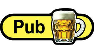 Pub Sign inYellow