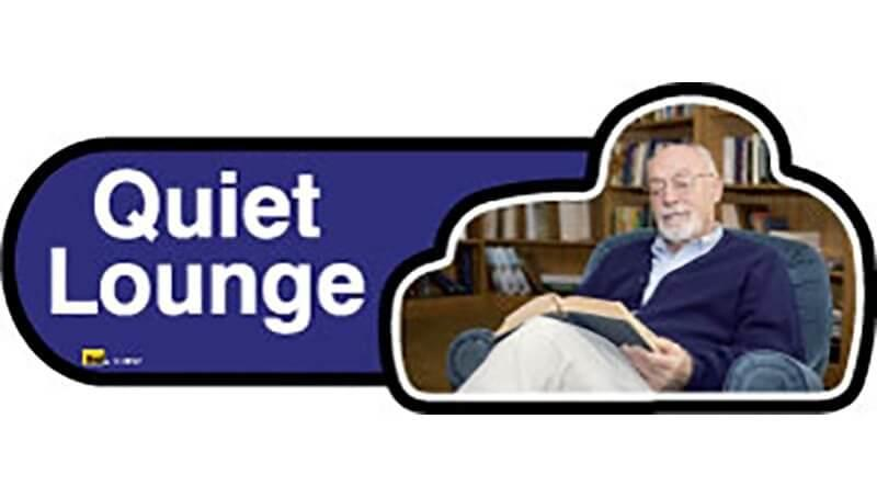 Quiet Lounge Sign inBlue