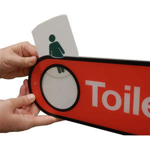 Interchangeable Toilet Sign for Hospitals