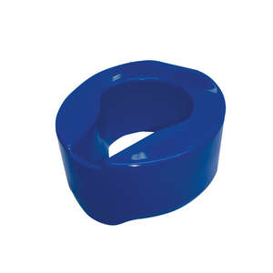 Armley Raised Toilet Seat - Blue 150mm