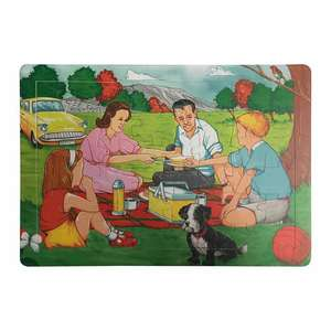 Retro Jigsaw Puzzles by Les Ives - Picnic