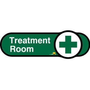 Treatment Room Sign inGreen