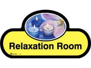 Relaxation Room Sign inYellow