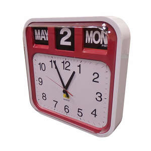 Analogue Calendar Clock with AM/PM Display
