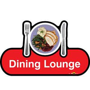Dining Lounge Sign inRed