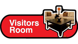 Visitors Room Sign inRed