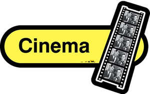 Cinema Sign in Yellow