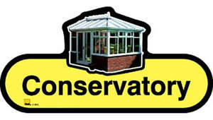 Conservatory Sign inYellow