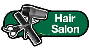Hair Salon Sign in Green