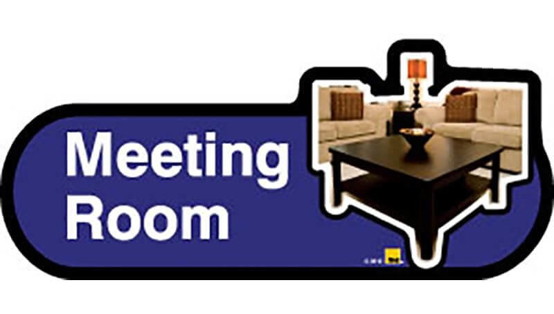 Meeting Room Sign inBlue
