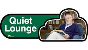 Quiet Lounge Sign inGreen