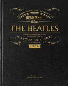 Beatles Newspaper Book - Black Leather Cover