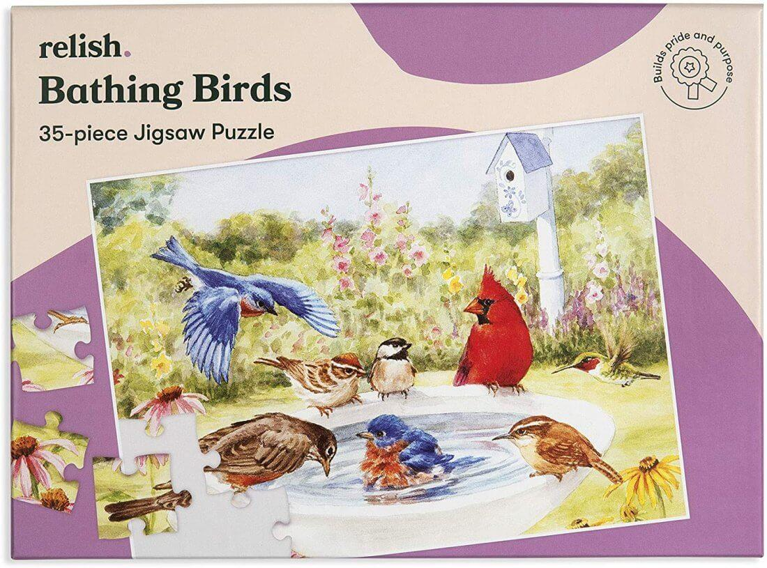 Jigsaw Puzzles 35 Piece - Bathing Birds