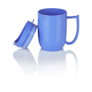 Unbreakable Melamine Mug with Removable Lid
