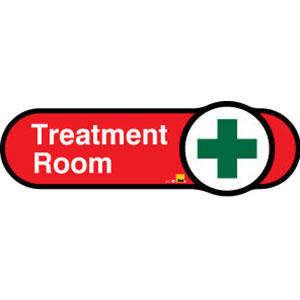 Treatment Room Sign inRed