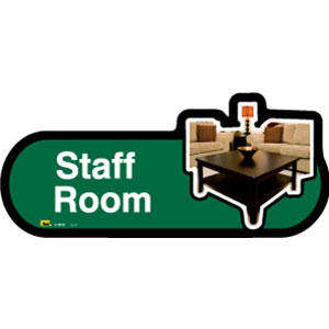 Staff Room Sign inGreen