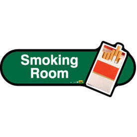 Smoking Room Sign inGreen