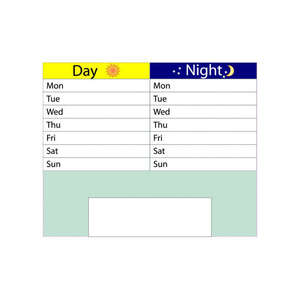 Dry Wipe Board for Large Day/Night Calendar Flip Clock