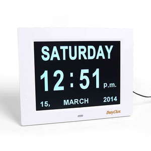 DayClox 8 Digital Calendar Clock with Day & Date - Type A