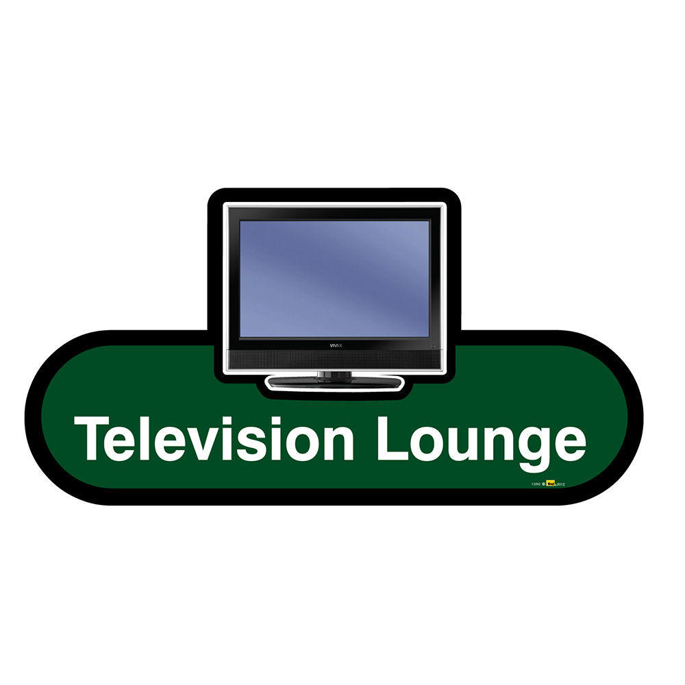 Television Lounge Sign