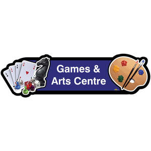 Games and Arts Centre Sign