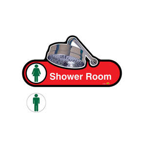 Interchangeable Shower Room Sign Male/Female